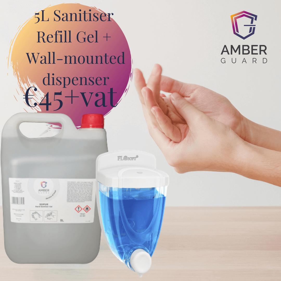 hand sanitiser gel refill manual dispenser package deals bulk price